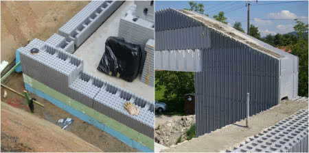 Styropianowe kształtki - ściany domu