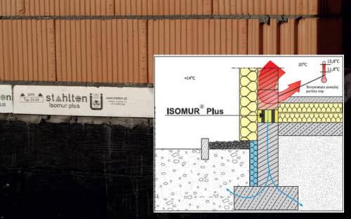 ISOMUR® Plus - skuteczna izolacja części cokołowej budynku