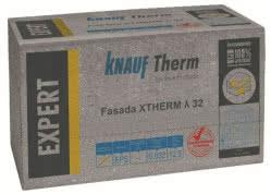 """Certyfikowany styropian EPS KNAUF Therm EXPERT Fasada XTherm λ 32 ze znakiem jakości """"Gwarantowany Styropian"""""""