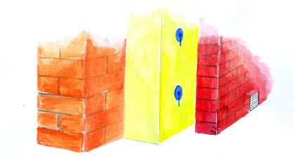 Ściany trójwarstwowe ze szczeliną wentylacyjną wymagają zachowania jej drożności na całej wysokości oraz wstawienia puszek wentylacyjnych.