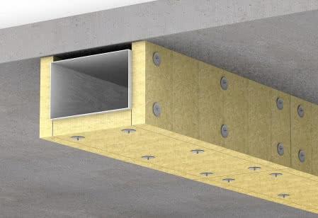 Do izolacji przeciwpożarowej stosuje się m.in. specjalistyczne płyty z wełny kamiennej.