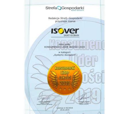 Certyfikat Isover