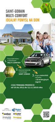 Postaw na energooszczędne budownictwo od Saint-Gobain i wygraj samochód Volkswagen Golf