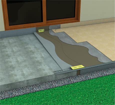 Wyprowadzenie izolacji przeciwwodnej na próg podokienny