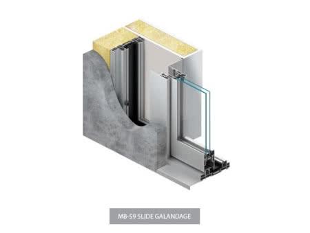System otwierania w drzwiach MB-59 Slide Galandage.