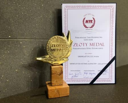 Złoty Medal dla Greinplast za panele kwarcowe.