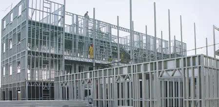 Budynek wielokondygnacyjny w szkielecie stalowym w systemie SCS